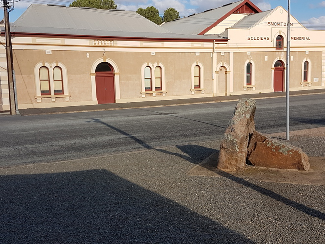 Historic Buildings at Snowtown,Soldier's Memorial Hall, South Australia