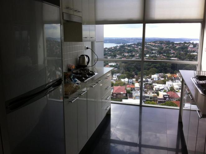 kitchen, hotel, apartment, self contained, fridge, view, harbour, window