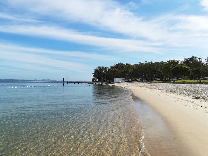 little beach, nelson bay, NSW, port stephens, swimming, fishing, things to do, halifax holiday park, inner light tearooms, nelson head lighthouse, cafes, restaurants, things to do, beaches, bays,