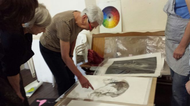 Monoprinting workshop at Hahndorf Academy