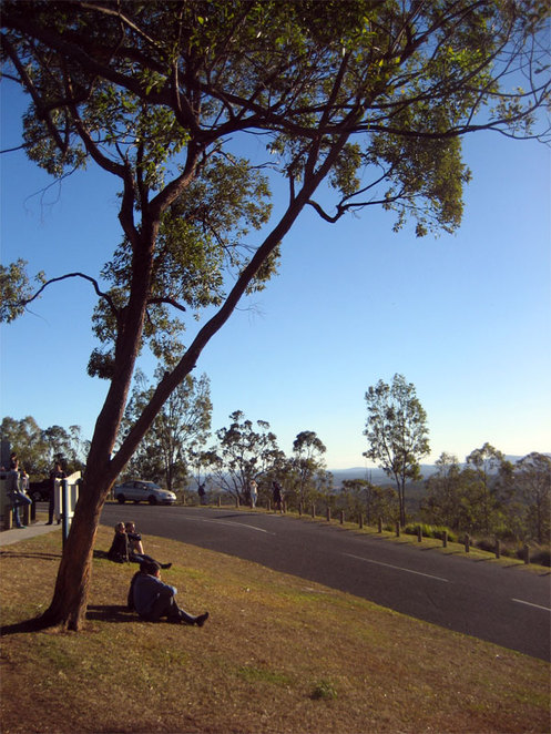 Relaxing on the Mt Gravatt Summit