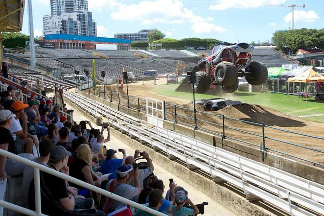 National 4x4 Outdoors Show and Fishing & Boating Expo monster truck action