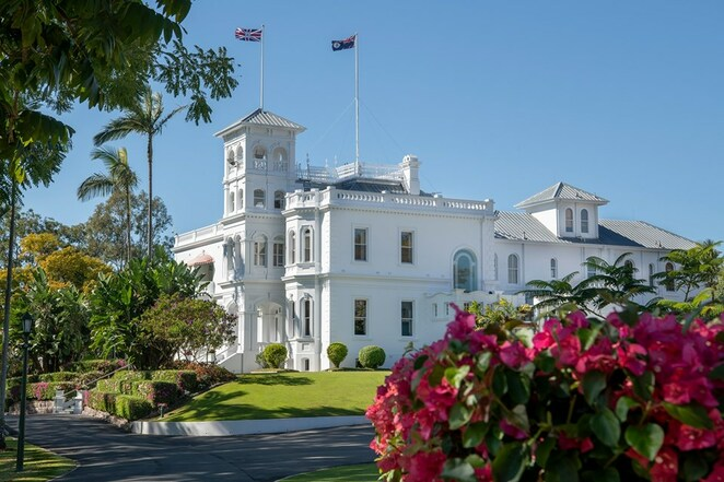 Open Day at Government House, historic home of Queensland Governors since 1910, working residence, historical landmark, special event, Saturday 1 June 2019, FREE entry, guided tours of house and gardens, BYO food and drink, picnic, Gavel, Vice-Regal dog present