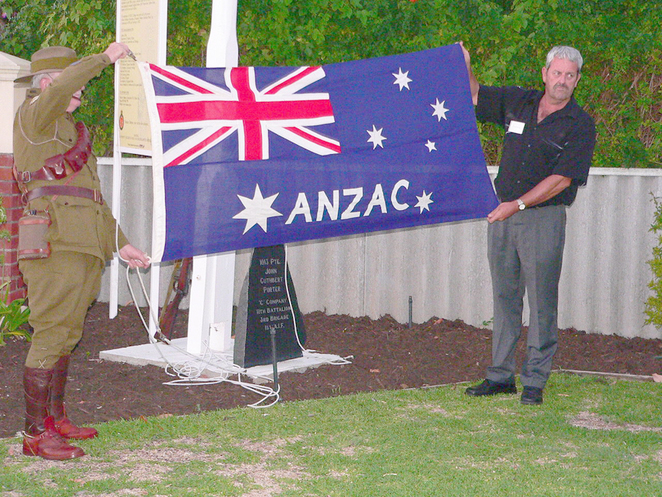 Peter Ramsay (right), immediate past president of the Vietnam Veterans Association of Australia WA Branch, was the overseer of much of the restoration work at the Cottage.