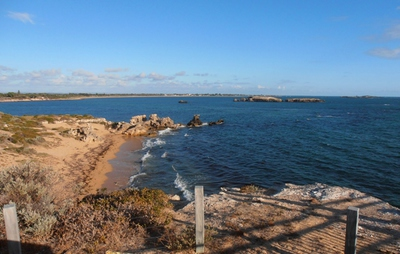 A secluded beach at Point Peron.