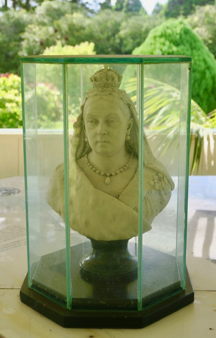 Queen Victoria bust in the midst of the Queen Victoria Garden - Norfolk Island