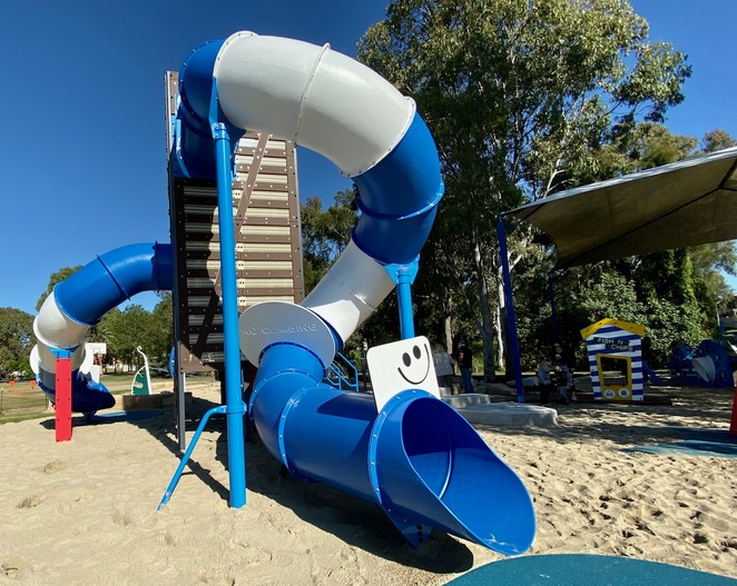 The exciting new playground at Raby Bay Esplanade Park