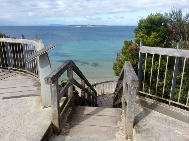 Rip View Lookout, Point Lonsdale, Bellarine, Victoria, view, tourist spot, beach access,