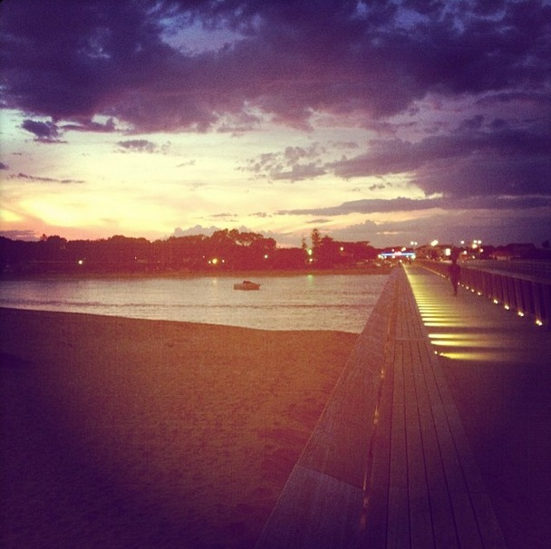 The beach and river, Barwon Heads