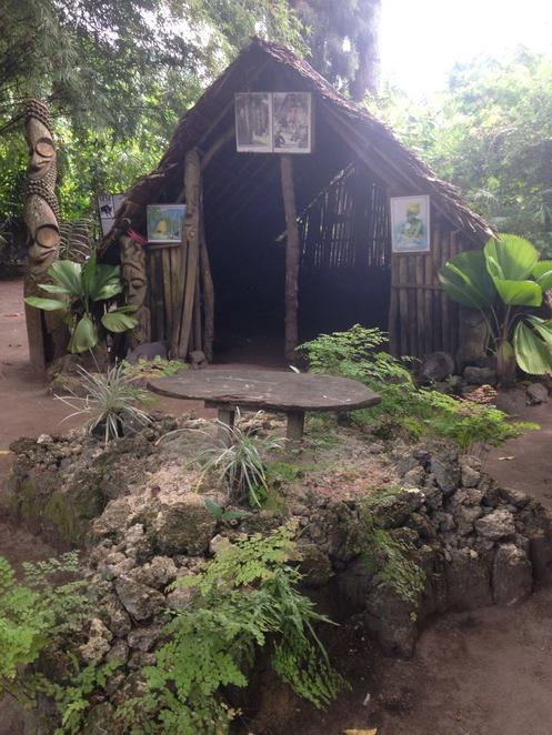 secret gardens vanuatu, tribal hut,