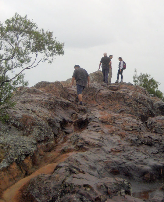 The last section to the very summit of Ngungun