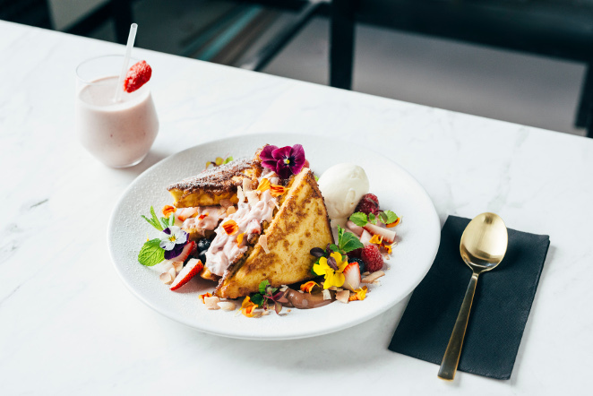 strawberry french toast, french toast, riddik, templestowe