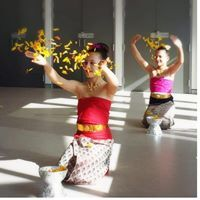 Students at the Thai Dance Academy Perth enjoy a beautiful culturally significant floral danceautiful art of Thai Dance in very supportive, happy environment