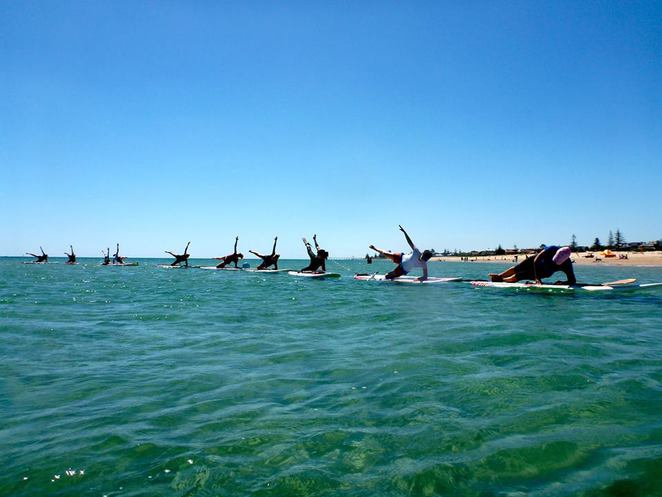 sup pilates side plank liz guilhaus teacher south australia