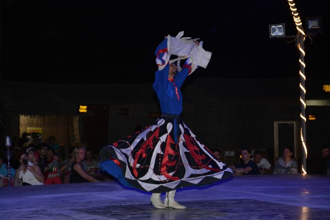 tanoura dance in desert safari camp