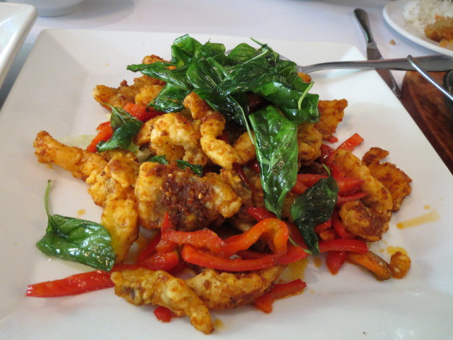 Thai Chef Restaurant, Spicy Barramundi, Adelaide