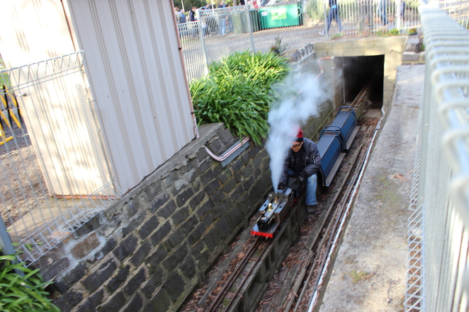 tunnel, steam, train
