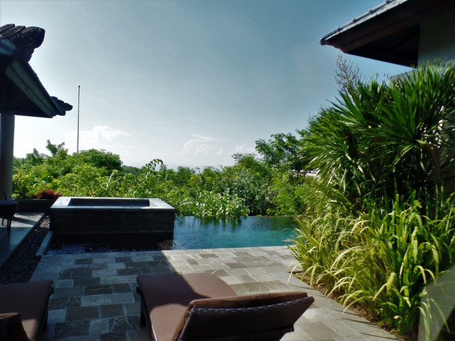 view from villa of banyan tree ungasan bali