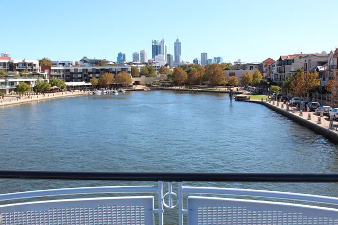 Views of the Perth City Centre from the Bridge