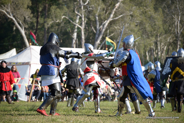 Abbey Medieval Festival combat
