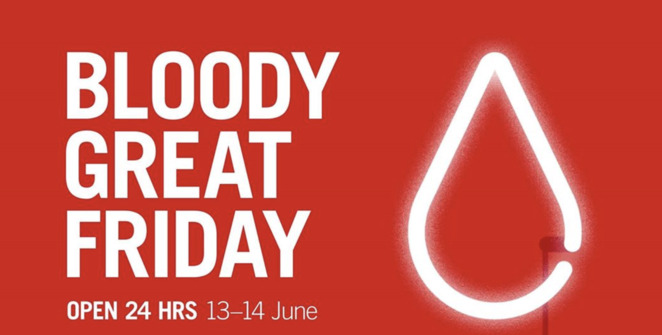 bloody great friday 2019, community event, fun things to do, health and fitness, blood donation, world blood donor day 2019, australian red cross blood service, help those in need, be a local hero, help save lives, donate blood