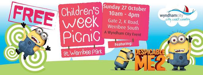 children,picnic,despicable,me,minions,wyndham,council