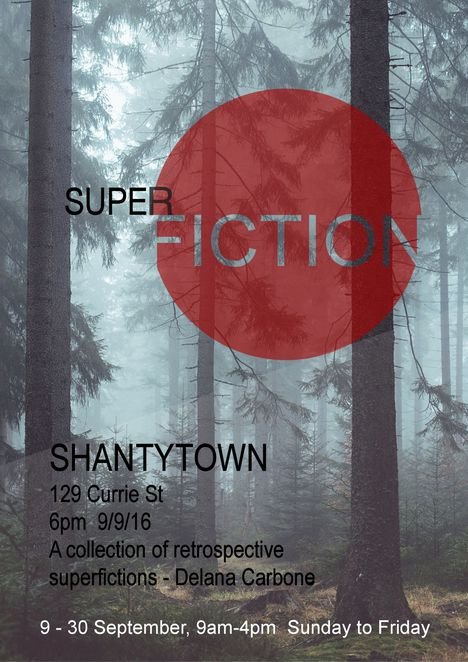 Delana Carbone's Superfiction Exhibition at Blue-Bird Coffee Lounge