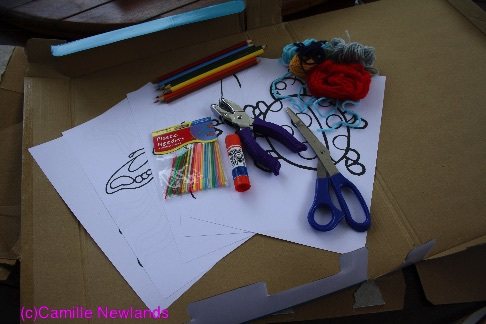 Equipment required for yarn threading