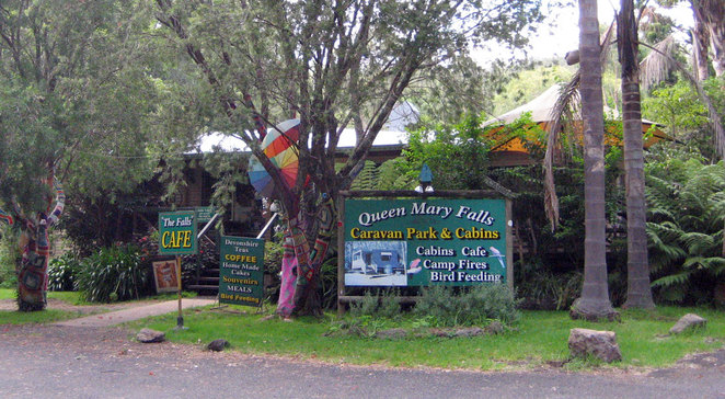 The Falls Cafe is across the road from the Queen Mary Falls Picnic Area