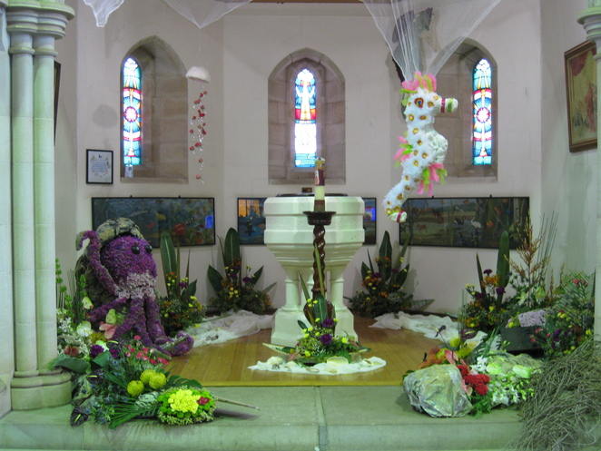 Floral sea creatures St Lukes Anglican
