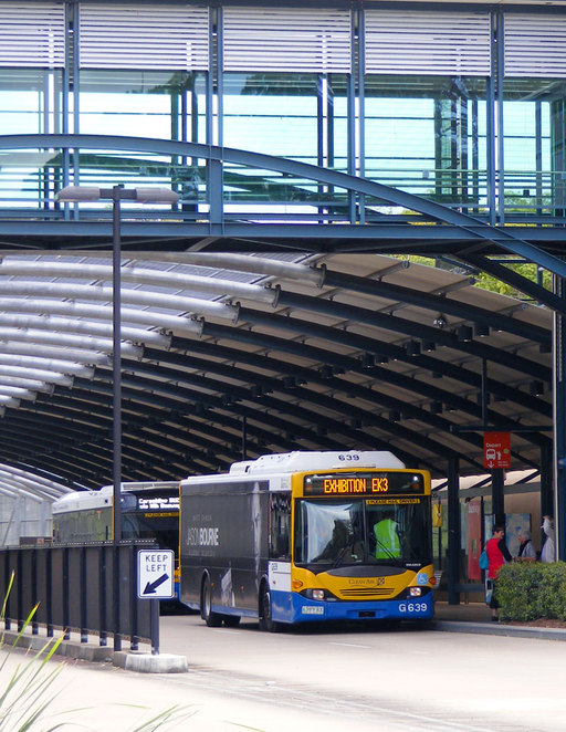 Ekka buses at the Herston Bus Station