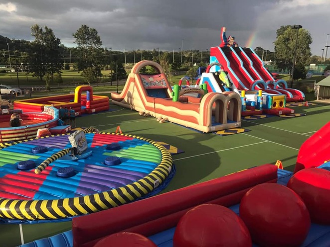 Gold Coast, school holidays, inflatable, children, family