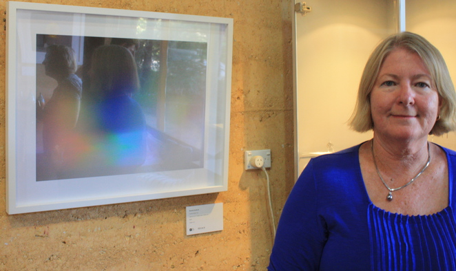 Beverley Southcott and her work entitled Conduit Space Two