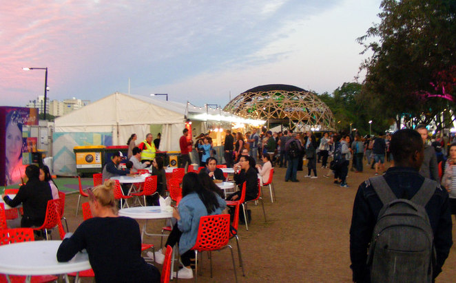 It is best to get in early at the night noodle markets