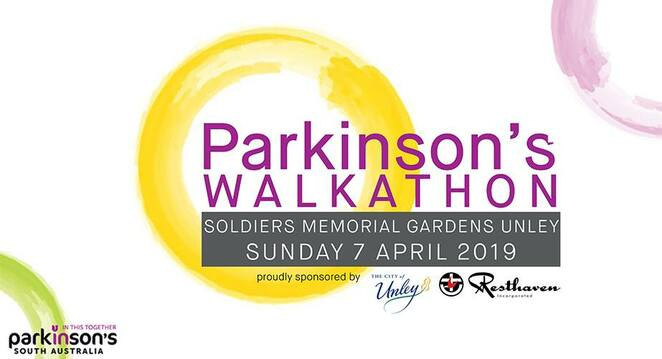 parkinson's walkatohn 2019, community event, fun things to do, fun walks, walk for charity, parkinsons fundraiser, be a local hero, soldiers memorial gardens unley, resthaven, city of unley, parkinson's south australia, everyday hero, parkinson's walkathon, family fun day, market stalls, information stalls, live music, art and craft, plant sales, food and drink