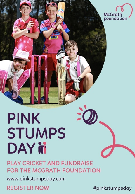 Pink Stumps Day, pink test, cricket, fundraising,