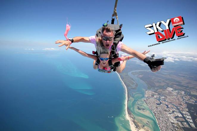 Romantic Activities for Couples on the Sunshine Coast, Seafood Platter for Two, Kitesurf together, enjoy a Devonshire Tea for Two, Tandem Skydive onto the beach in Caloundra, Abseil the Glasshouse Mountains, Jetski in Noosa, Swim together with whales, take a thrill ride on a jet boat