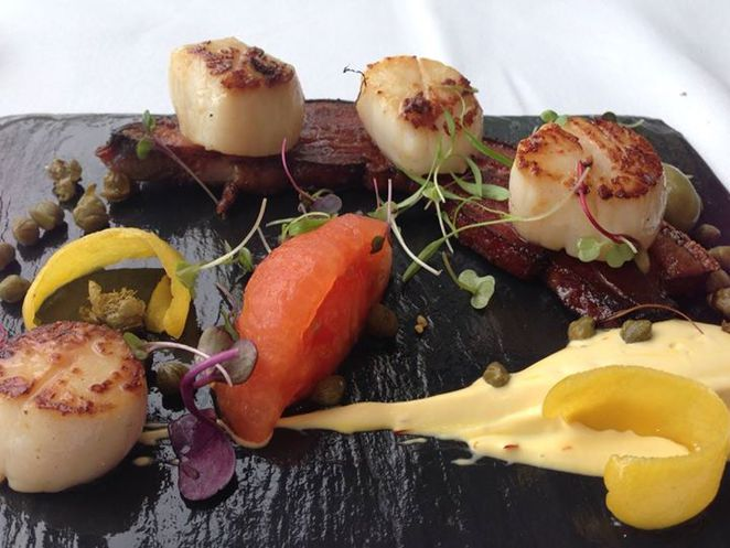 scallops bacon oskars on burleigh