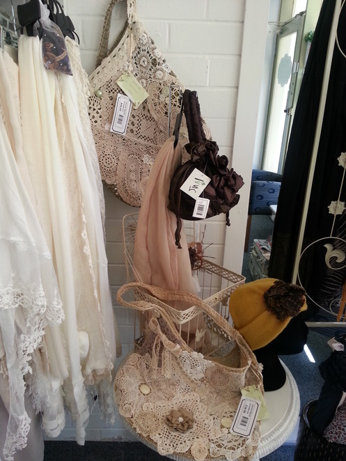 shopping, crochet, secondhand, bags, Maryborough