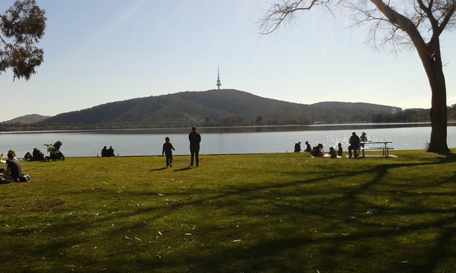 Snapper on the Lake, Fish and Chips, Lake Burley Griffin, Views to Telstra Tower, Summer activities