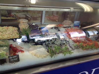Some of the fresh seafood on offer