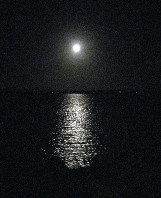 Moonlight reflected on water