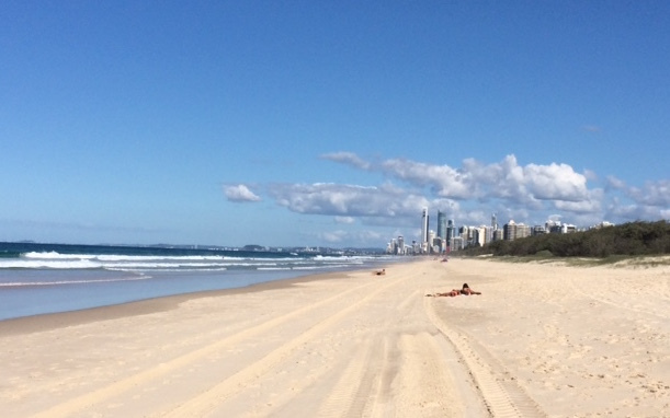 Surfers Paradise in the distance