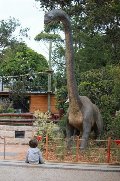 taronga zoo, mosman, dinosaurs, fun with kids, hanging out with kids, dinosaurs at the zoo
