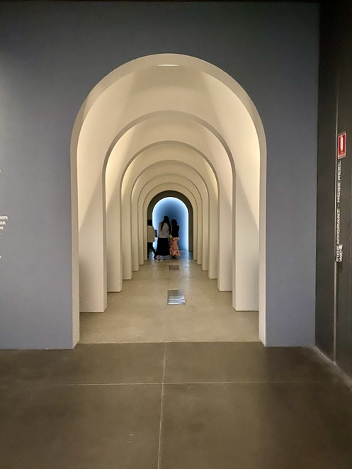 The entrance with its diminishing perspective drawing you in