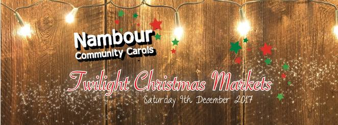 twilight, Christmas, markets, Nambour, community, carols, flame tree, Baptist church, gifts.