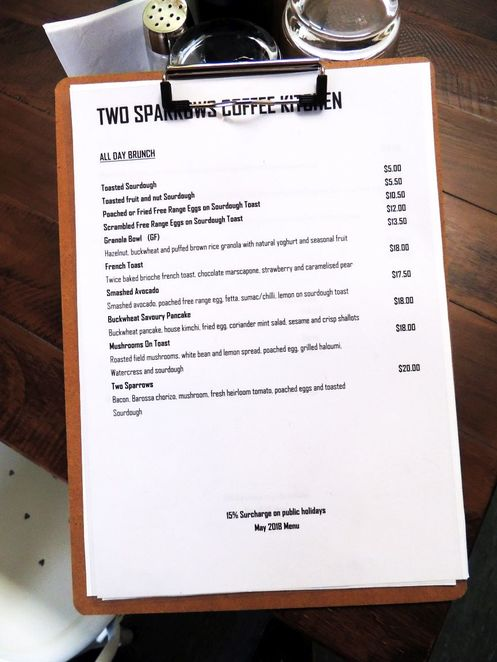 Two Sparrows Coffee & Kitchen, two sparrows, cafe, menu, food, coffee, brunch, lunch, brunch menu
