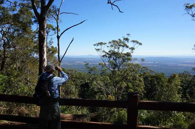View from lookout at Knoll National Park