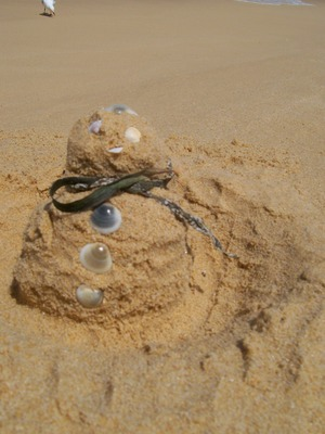 In Europe they have a snowman - in Australia we have a sandman.