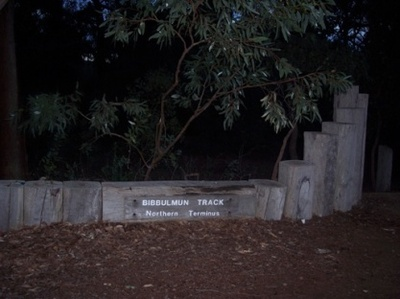 The northern terminus of the Bibbulmun Track at Kalamunda
